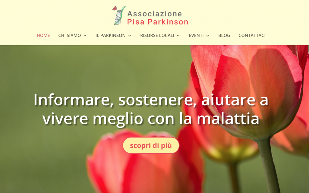 Presentazione in anteprima del sito web dell'Associazione Pisa Parkinson
